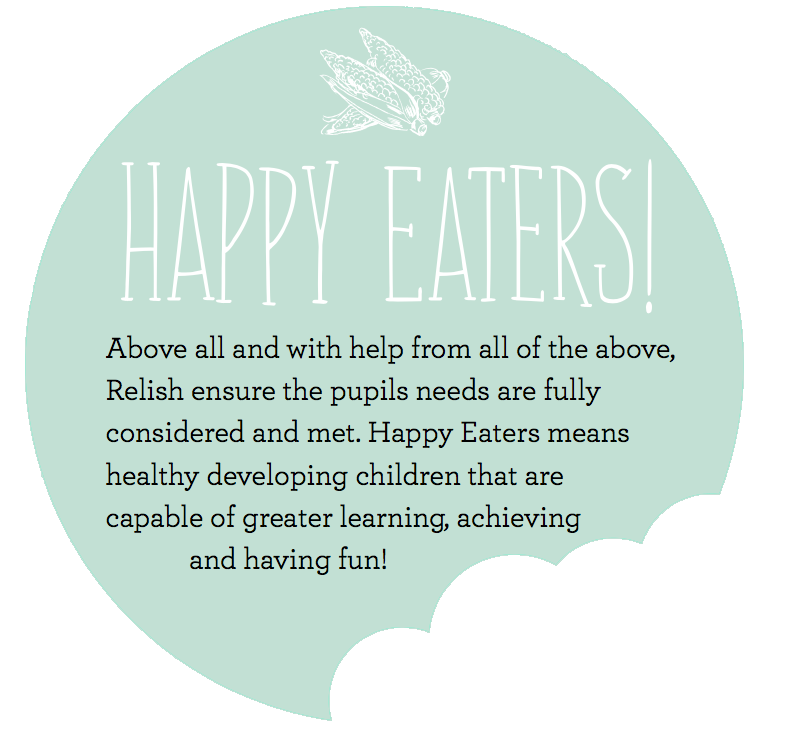 Above all and with help from all of the above, Relish ensure the pupils needs are fully considered and met. Happy Eaters means healthy developing children that are capable of greater learning, achieving and having fun.